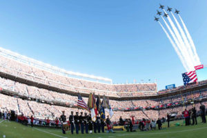 Super Bowl Sunday Blue Angels Flyover Ceremony