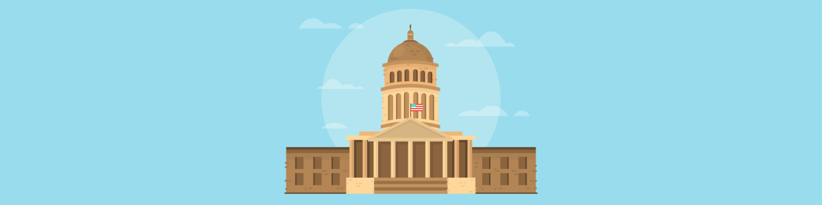 Federal bail bonds system banner image featuring graphic of capitol building